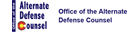 Office of the Alternate Defense Council logo