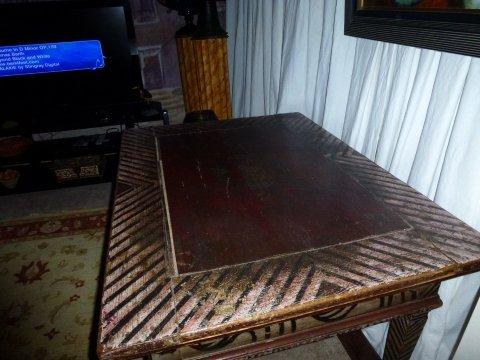 Top of Zebra Table.