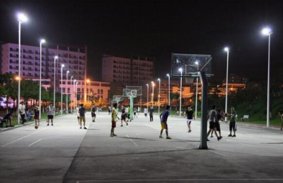 outdoor basketball court lighting