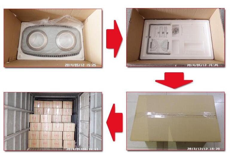 packaging of LED canopy lighting