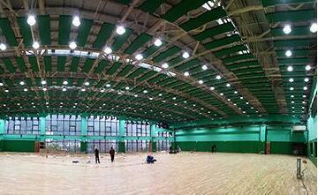 indoor badminton court lighting