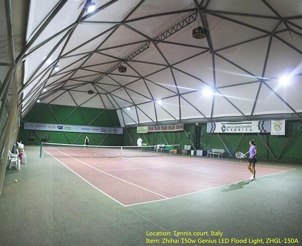 indoor tennis court lightign-Italy