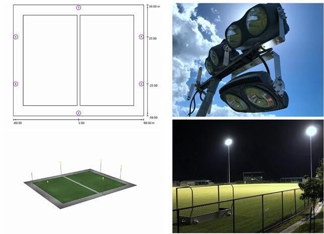outdoor football field lighting