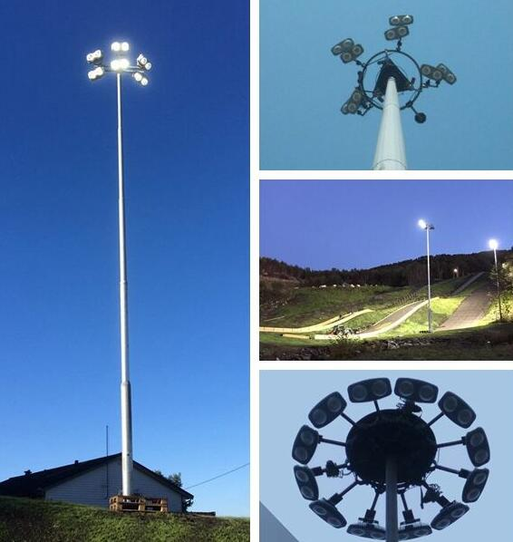 Converting to LED High Mast Lights