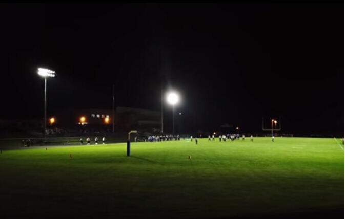 Rugby field lighting