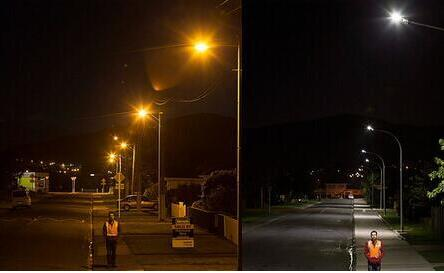 Street Lights With a Cell Phone