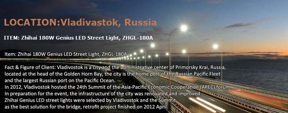 energy-efficient LED streetlights