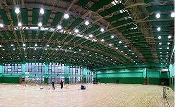 indoor badminton court lighting