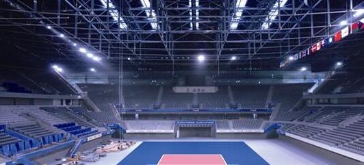 light up a volleyball court