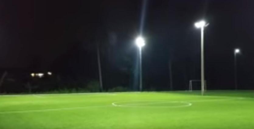 lights in the football field