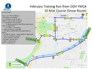 February 10 Mile Alt Route Training Run Map on map a drive, map a cut, map a path, map a run, map a process, map a distance, map a course,