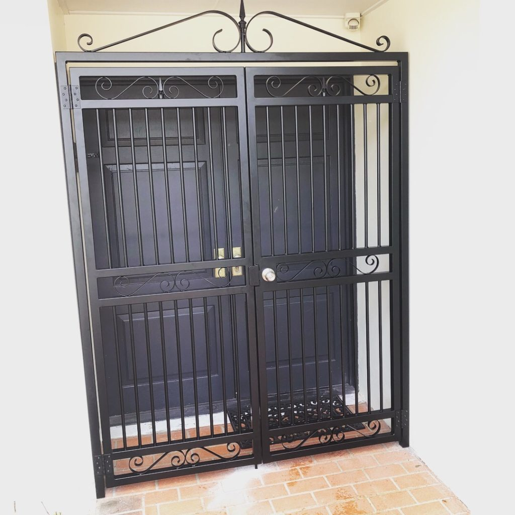 Decorative security gate for front entrance