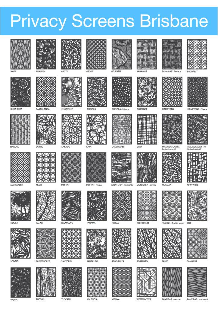 Architectural Screen Designs