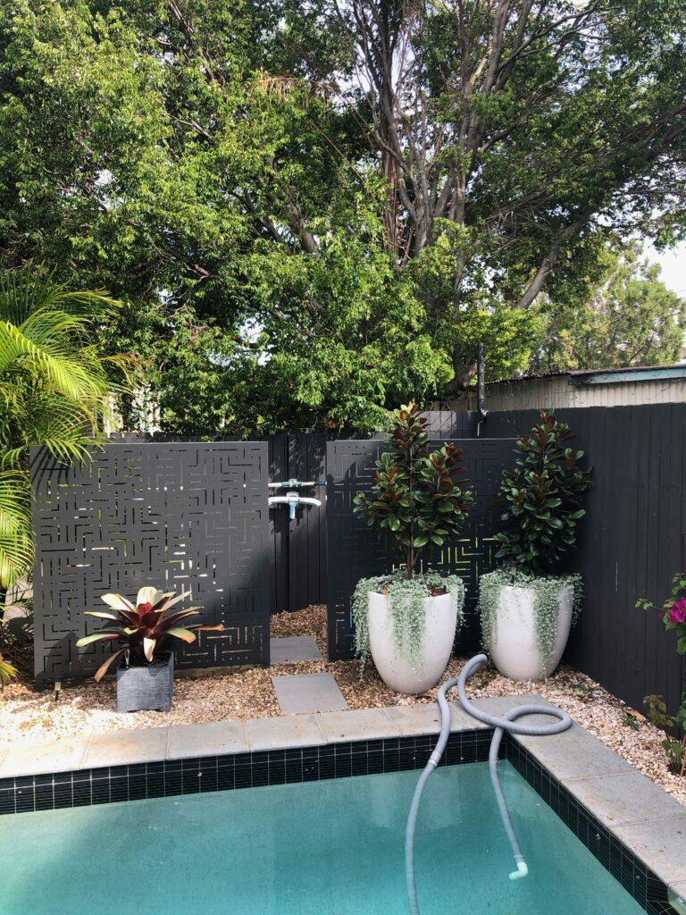 decorative pool pump screening