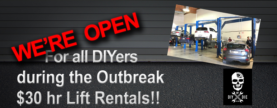 DIY or Die Techshop is open for auto repair services during the Corona virus pandemic