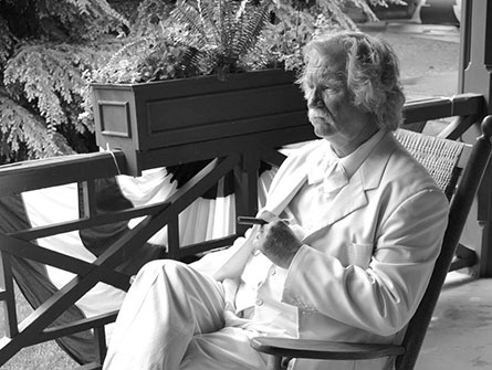 Roger Mallon as Mark Twain