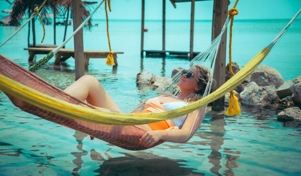 ambergris caye, belize, san pedro, secret beach, swing bar