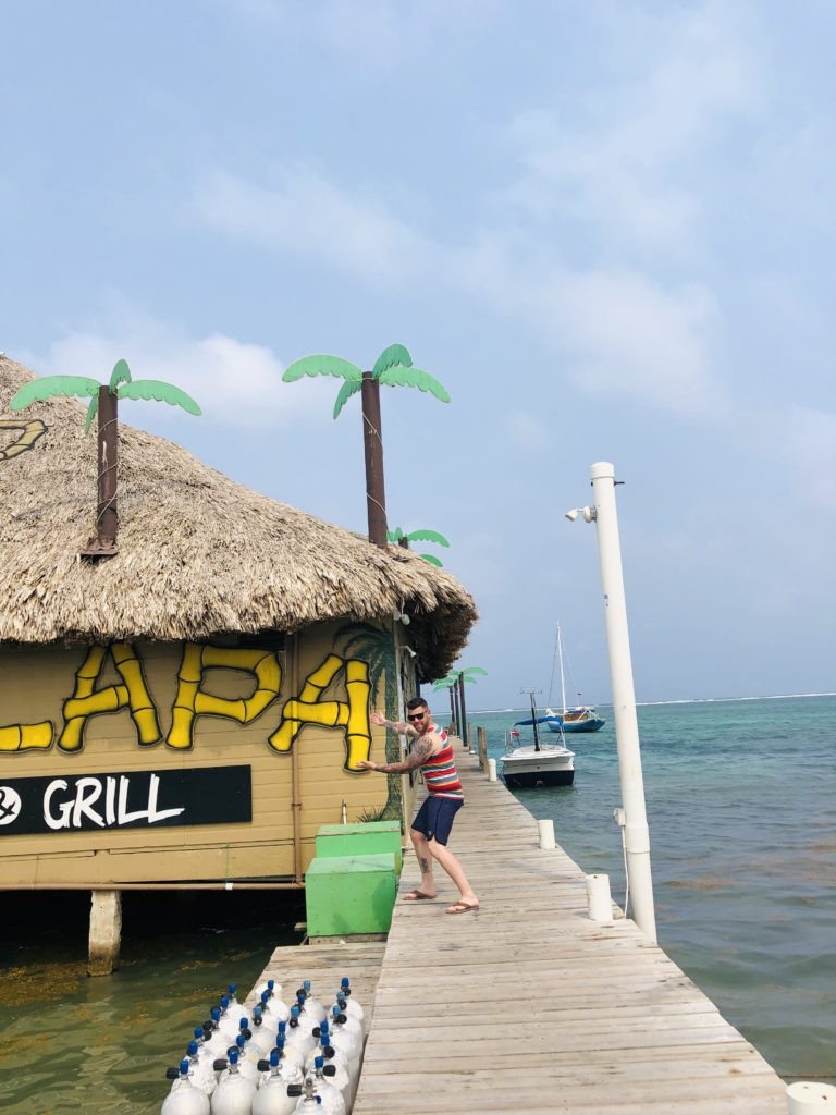 san pedro, belize, palapa bar and grill