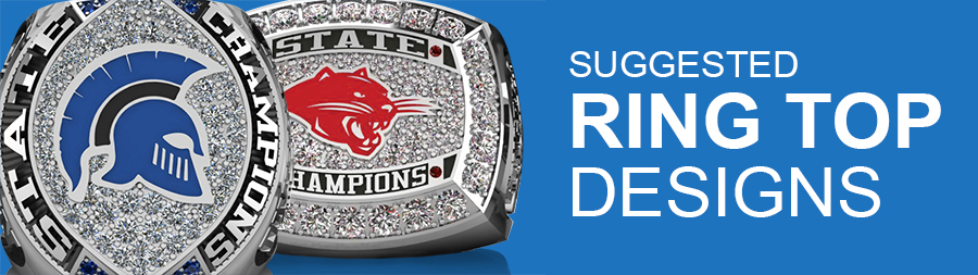 Championship Ring Top Designs