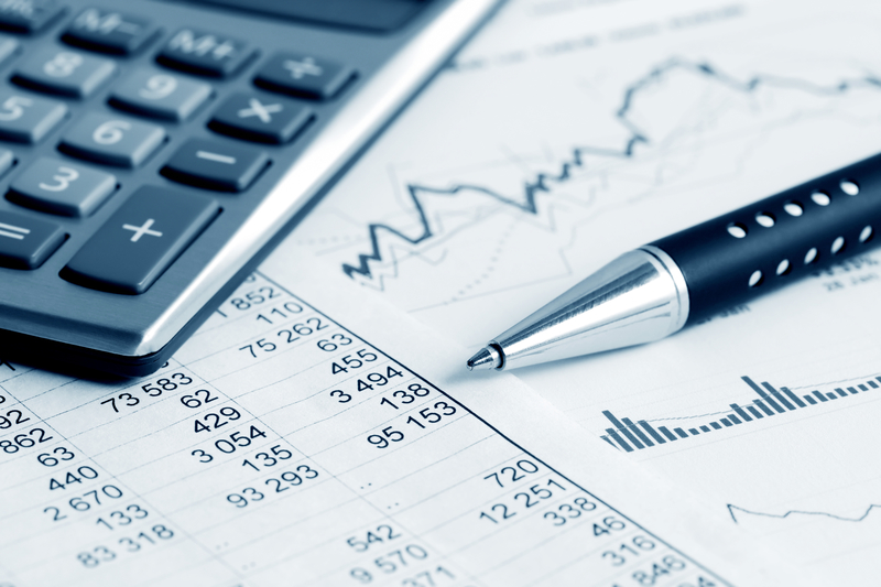 Analysis of stock market graphs and charts.