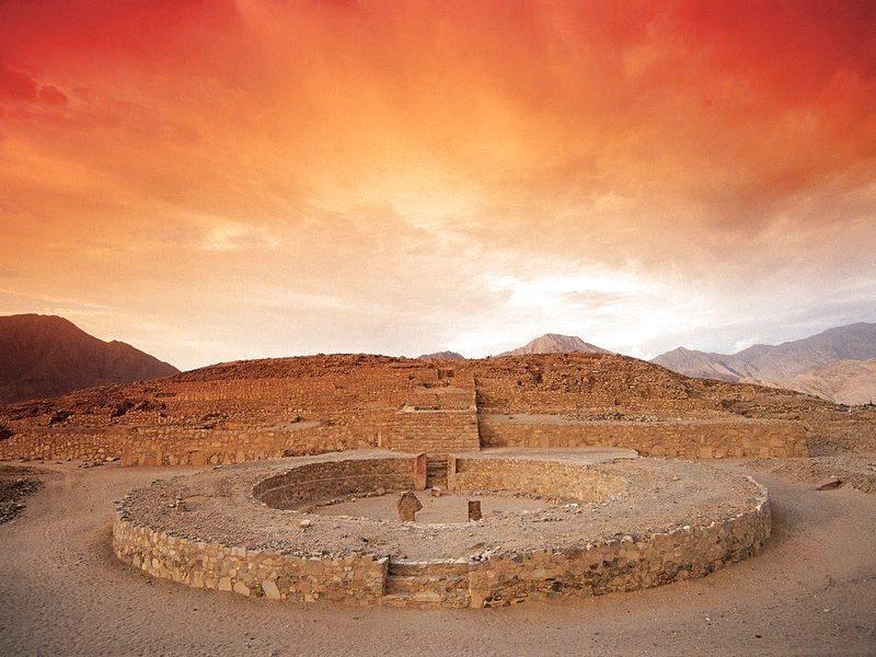Zona arqueológica de Caral. Fuente: Turismoipe
