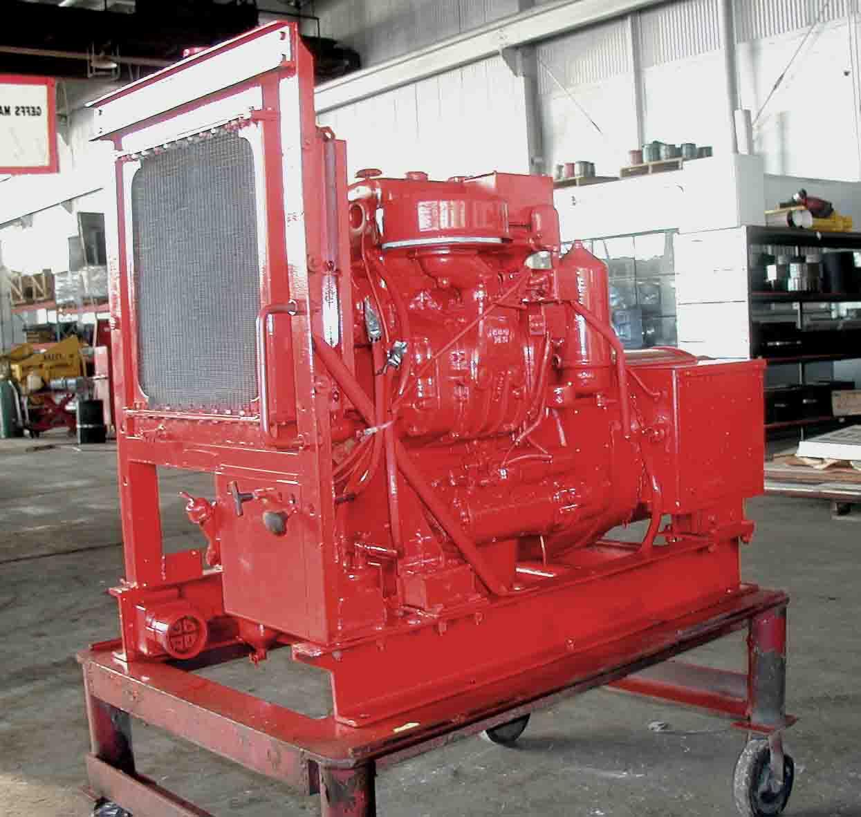 Detroit Diesel 2-71 Generator in Red