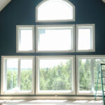 Interior home after painting deep teal