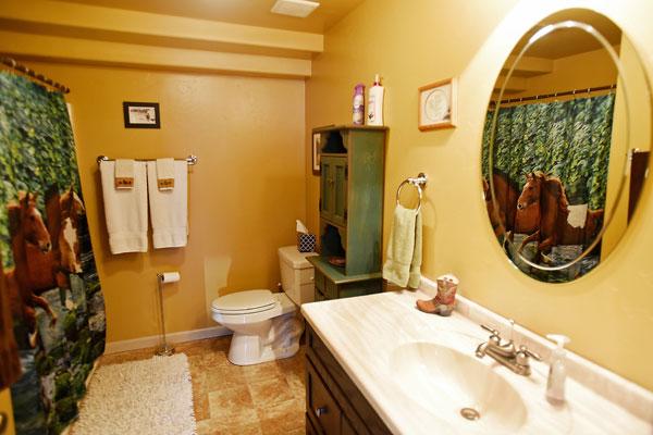 Bathroom at the Chisum Lodge