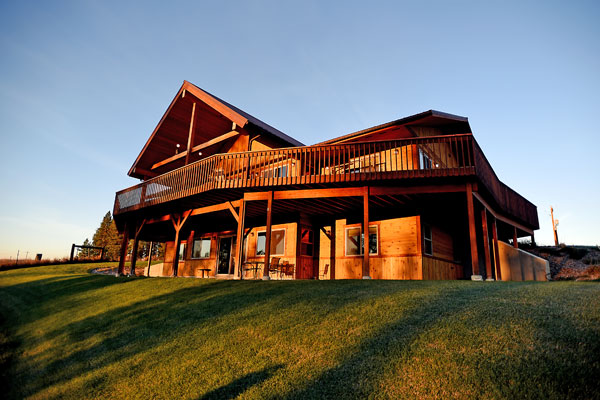 River View Lodge is a Custom Timber Home in Whitefish, Montana