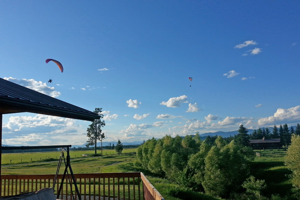 Flying Ultra Lights near River View Lodge in Montana