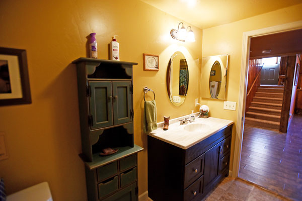 Lower Level Bathroom at the Chisum Lodge