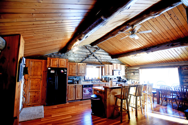Kitchen at the Chisum Lodge in Whitefish Montana