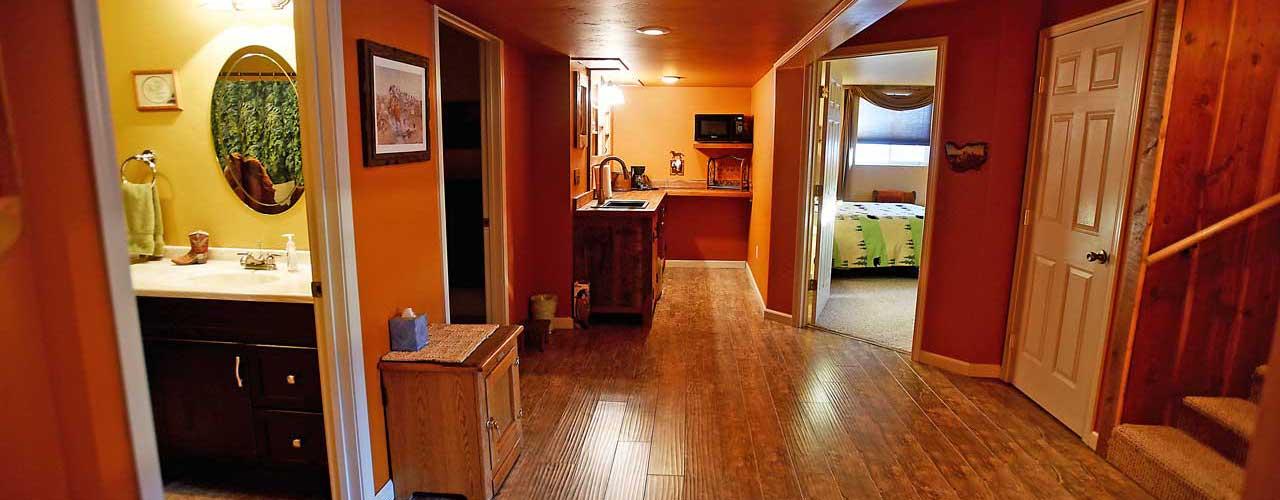 Chisum Lodge in Whitefish Montana Lower Level Rooms