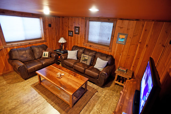 Lower Level Living Room Chisum Lodge