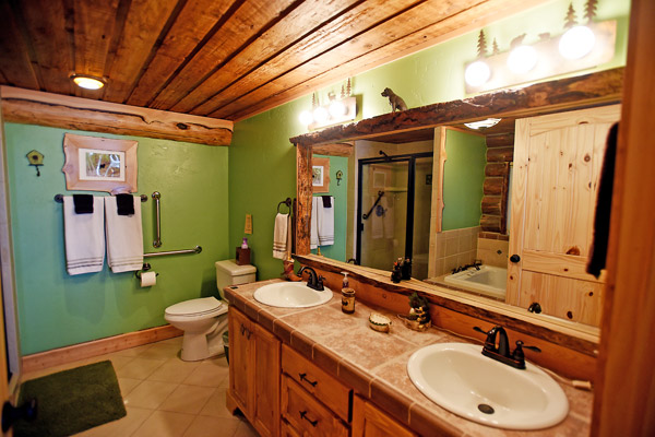 Master Bath with Jacuzzi and Double Sinks