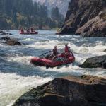 Rafting the Flathead River near Glacier Park in Montana
