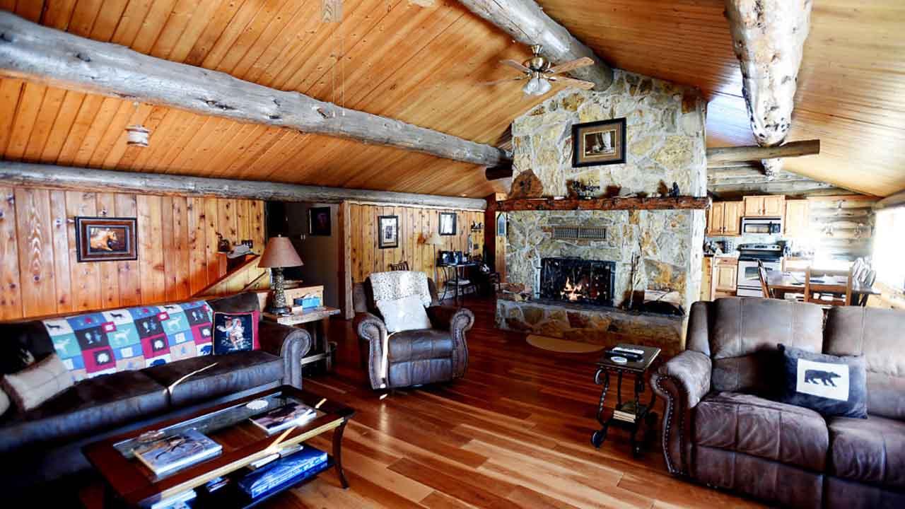 Living Room Log Cabin