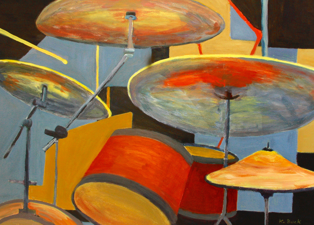 painting of snare drums
