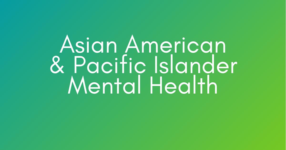AAPI Mental Health