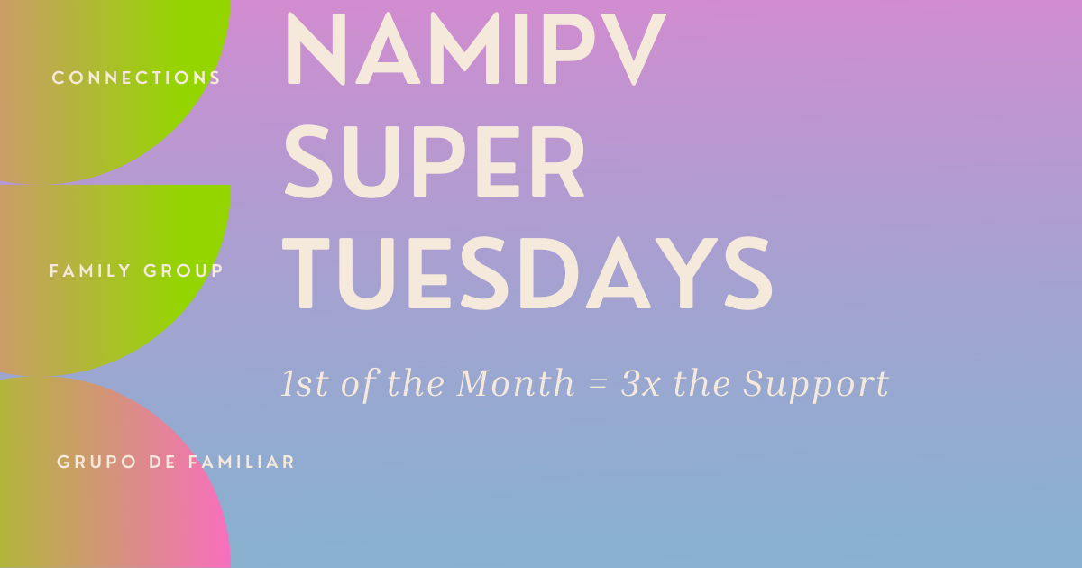1st Tuesday of the Month has three support groups!