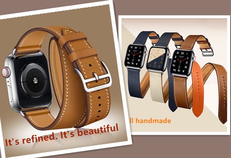 iphone watch band leather