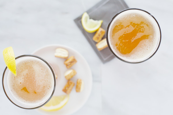 Beer Honey Bourbon Cocktail