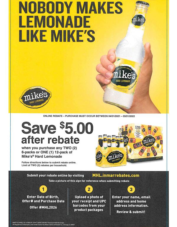 mike's rebate