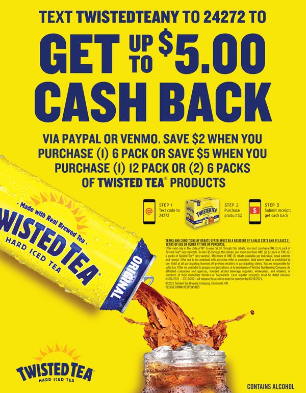 Twisted Tea Rebate