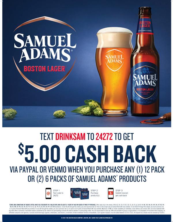 Samuel Adam Rebate