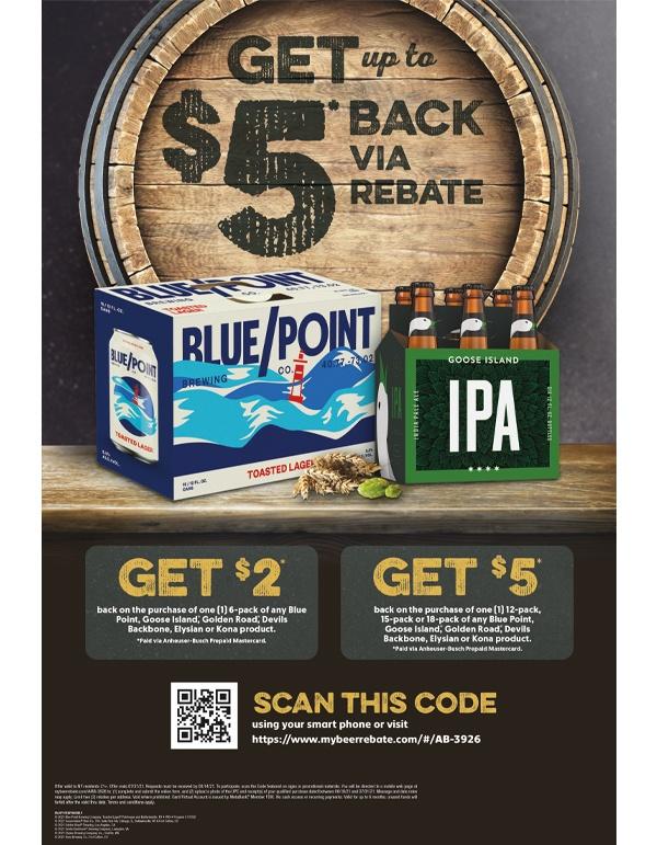 Blue Point Goose Rebate