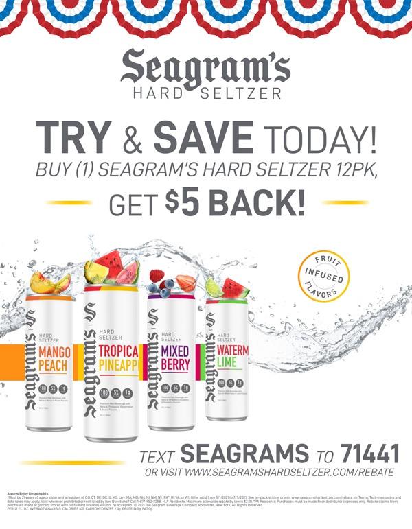 Seagrams Seltzer Rebate
