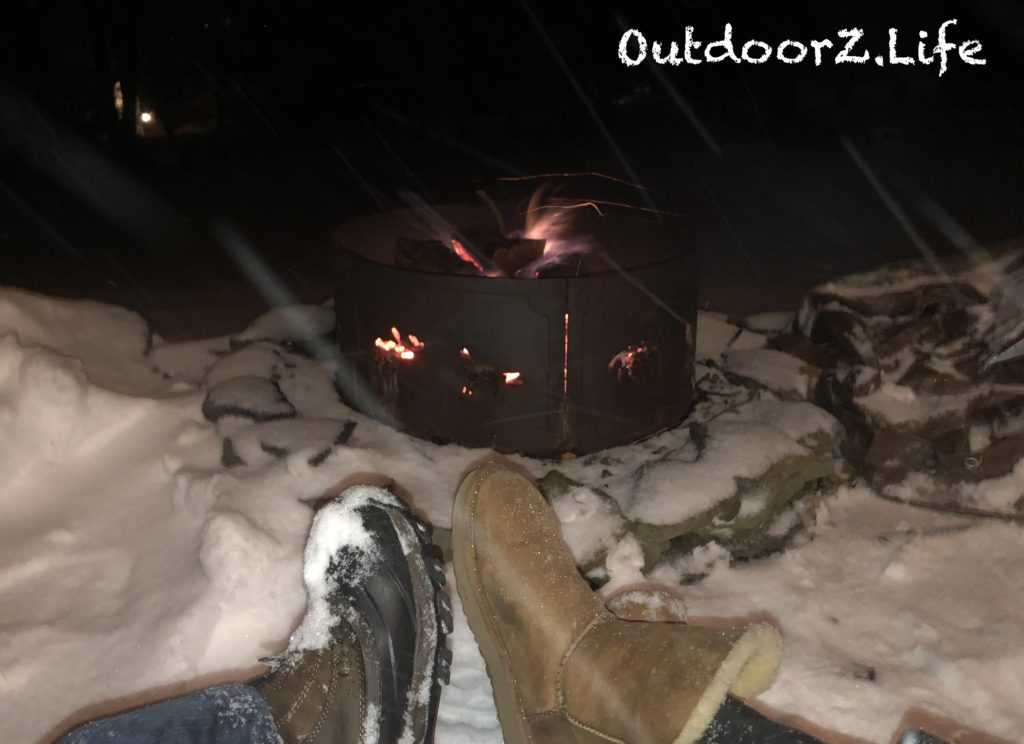 First Snow, Fire Pit, OutddorzLife