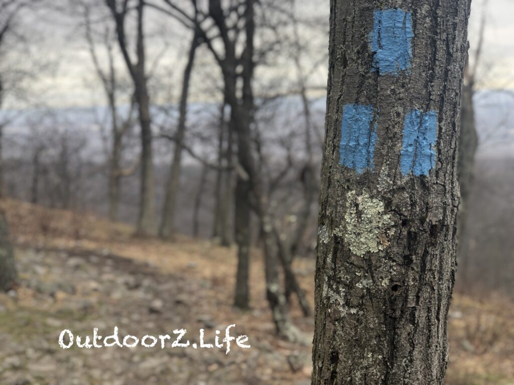 Picture of a trail marker. National Trails Day 2019.