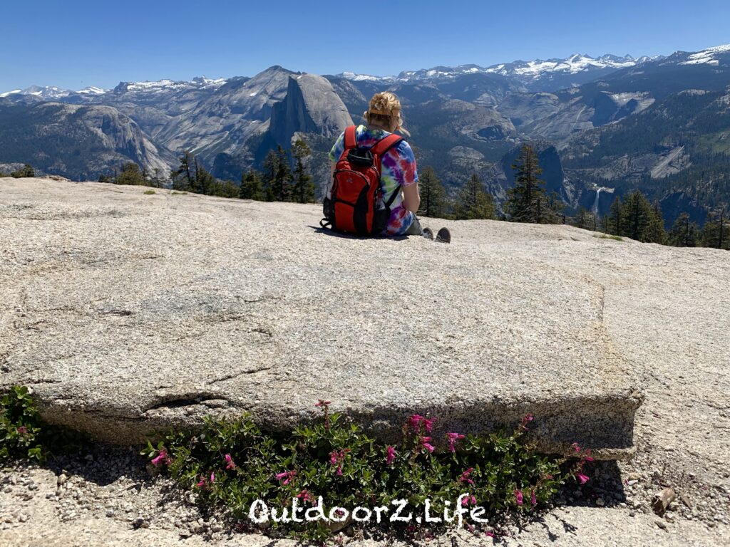 A picture from the top of Sentinel Dome at Yosemite National Park.